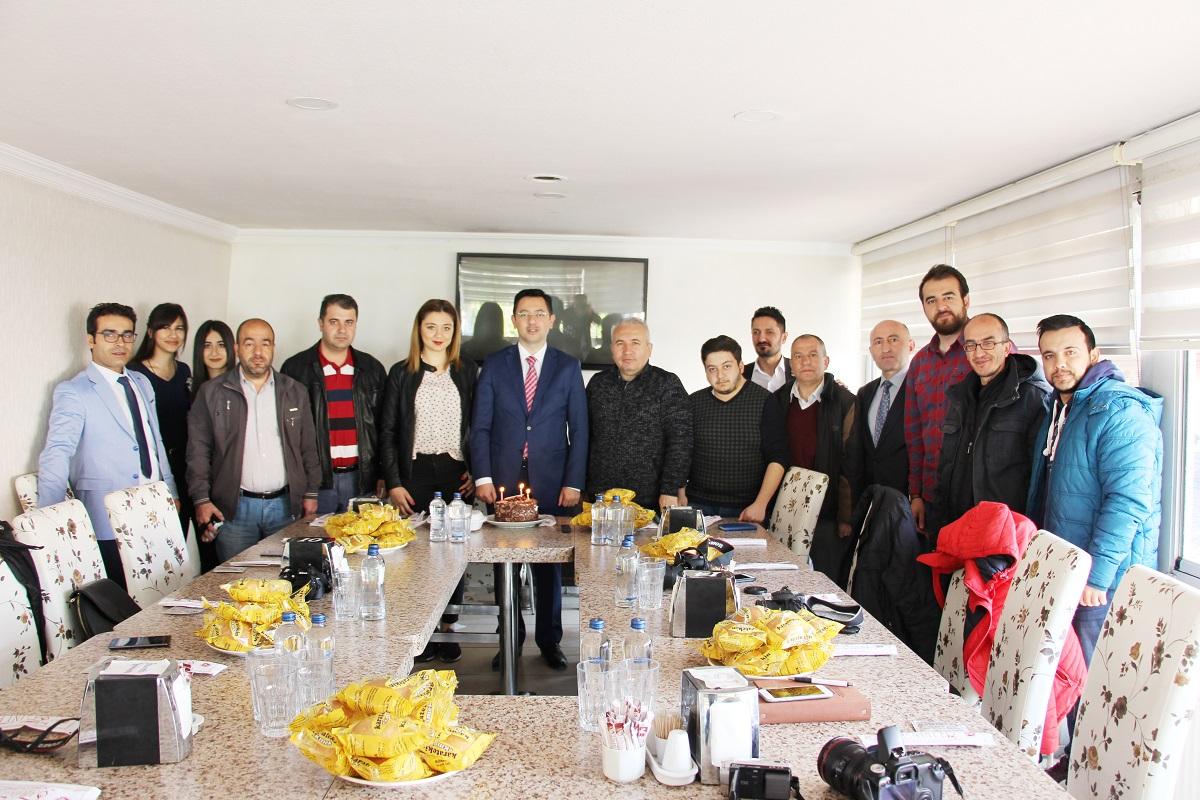 Vali Yardımcısı Yakup Ömeroğlu Çankırı basını ile bir araya geldi